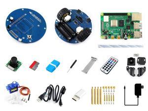 Image 2 - Robot Inteligente de Vídeo inalámbrico AlphaBot2, alimentado por Raspberry Pi 4 Modelo B enchufe de alimentación de EE. UU./UE