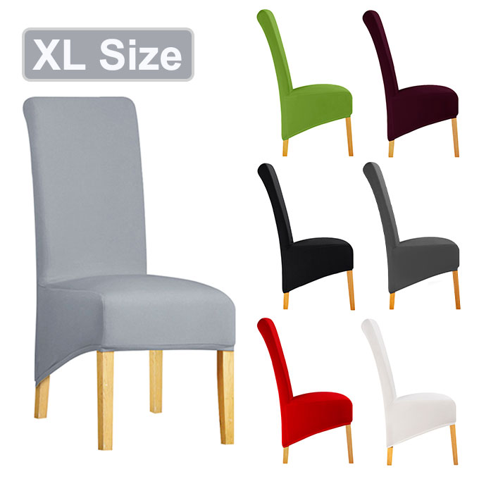 XL Size Chair Cover Cheap Large Big Size Long Back Europe Style Seat Chair Covers Universal Restaurant Hotel Party Banquet