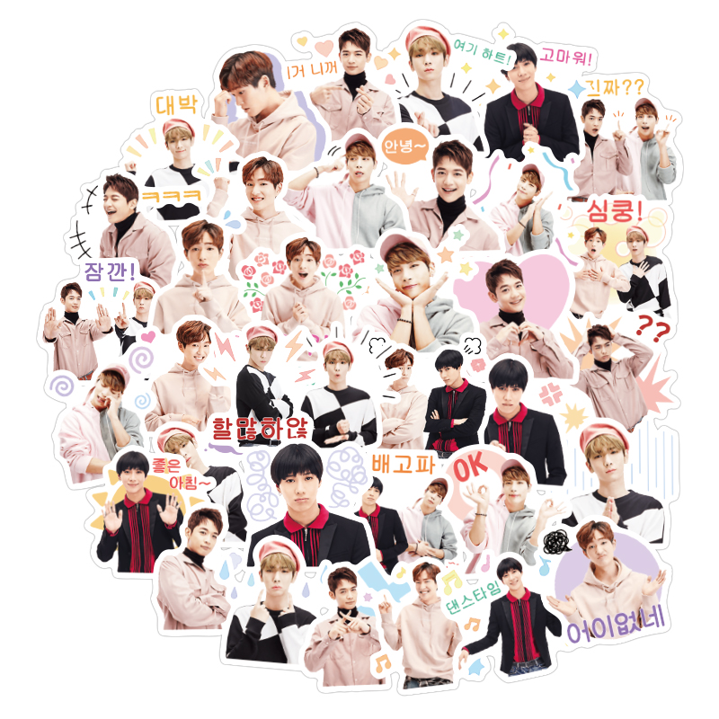 40Pcs Kpop  Men's Team Stickers Diary Handmade Adhesive Paper Flake Sticker Scrapbooking Pegatinas Stationery Stickers
