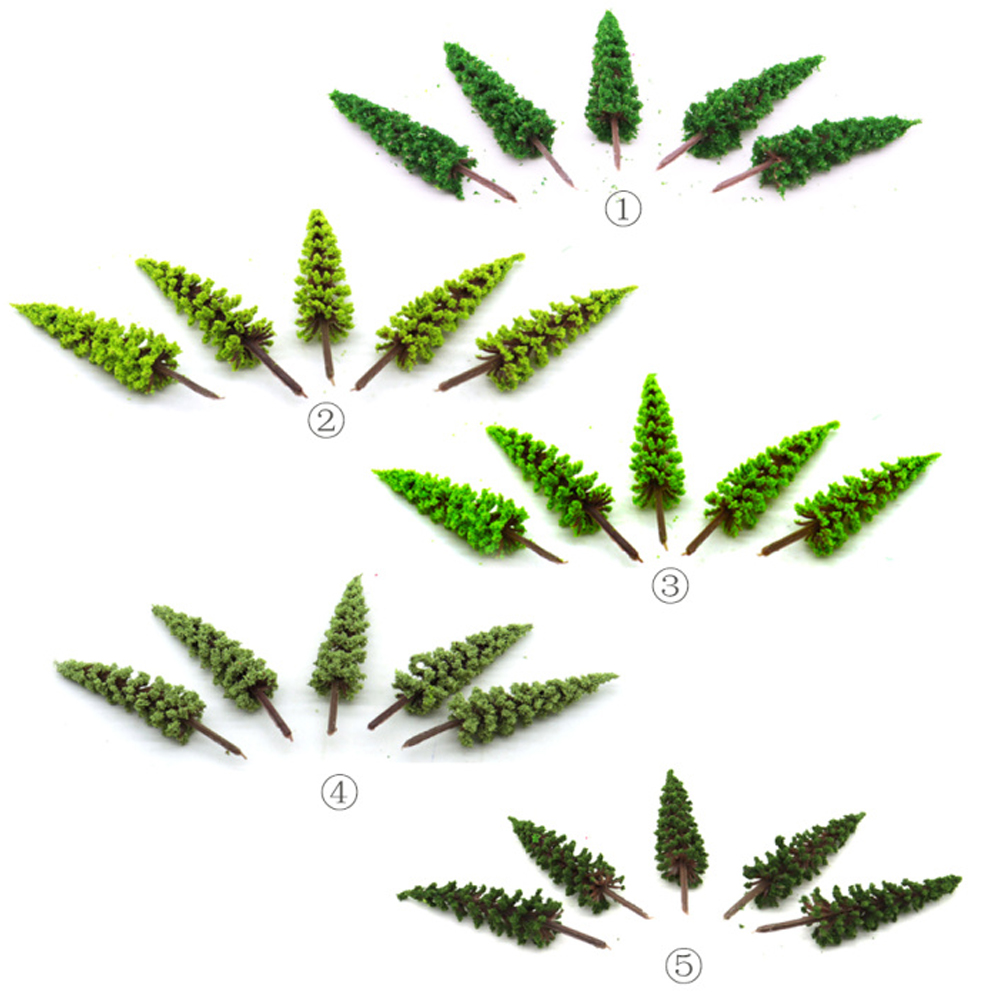 6.5CM Green Model Tree Toy 5 Colors Tower Pine Simulation Plant Layout Building Model Making Scene Sand Table DIY Diorama