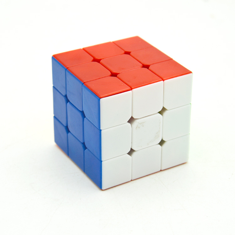 [Inch Three Layer Rubik's Cube Color] 3-Order Solid Color Children'S Educational Toy Spell Rubik's Cube Wall Only Closeout Produ