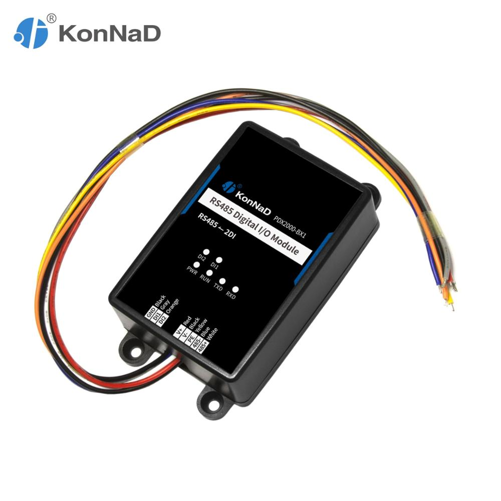 RS485 Remote Io Controller Module 2/4DI 2/4DO Form C Data Acquisition Relay Switch Modbus RTU Compact Size KonNaD
