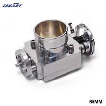 TANSKY   Universal High Flow Aluminium 65mm Intake Manifold Throttle Body For Nissan RB20 TK TB65RB20