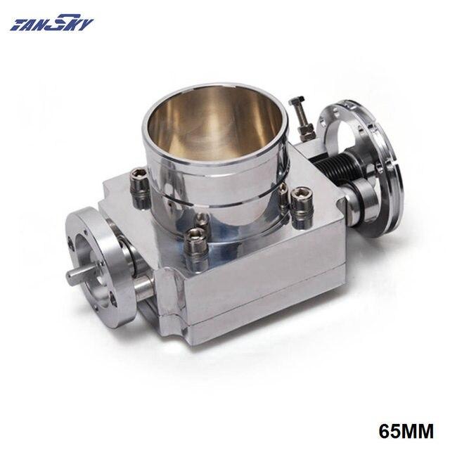 TANSKY   Universal High Flow Aluminium 65mm Intake Manifold Throttle Body For Nissan RB20 TK TB65RB20
