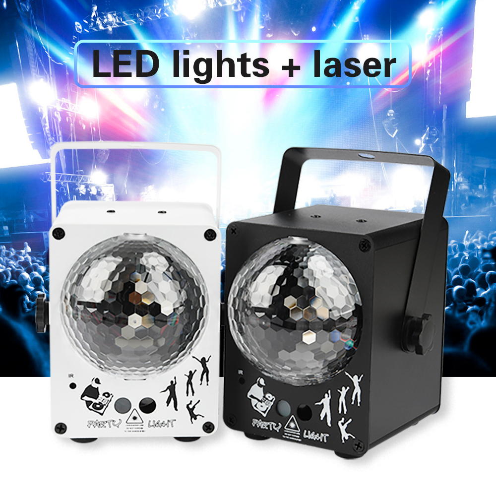 60 Patterns LED Disco Light Music Activated Laser Projector RGB Christmas Lighting Effect For Home Party Wedding DJ Stage Light