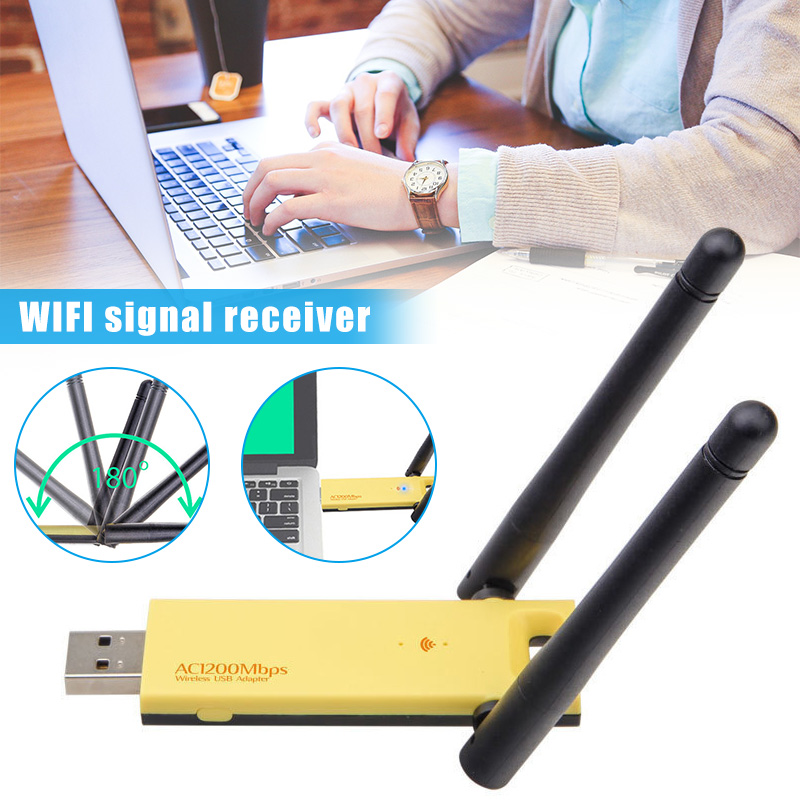 1200Mbps Wireless USB Wifi Adapter RTL8812AU Dongle Dual Band 2.4G/5GHz 802.11AC PUO88(China)