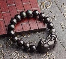 Nouvelle pierre Pixiu Pi yao rouge corde Bracelets porte-bonheur Pi xiu bracelet main élastique amulette bijoux 10mm