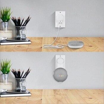 STANSTAR Duvar Montaj Tutucu, Google Nest Mini (2nd), Sağlam Parantez Ve Yerden Tasarruf Sağlayan Hoparlör Standı Olmadan Dağınık Kablolar
