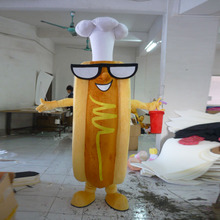 New adult hot dog mascot costume