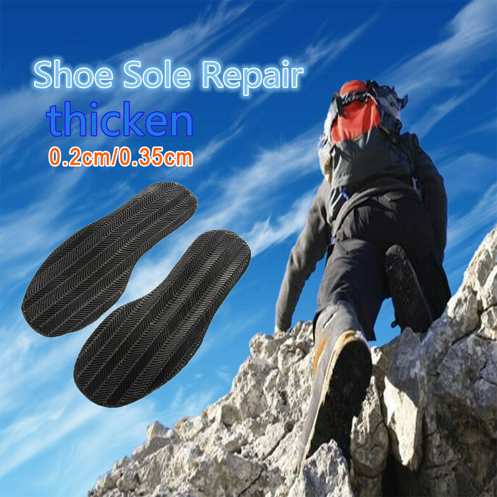 1 Pair Soft Rubber Thicken Elastic Flat Repair Kit Shoe Soles Stick On Outsole DIY Replacement Anti Slip Heel Protector #2