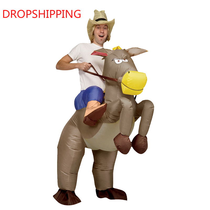 Inflatable Fancy Costume Halloween Inflatable Cowboy Outfit - Horse Fancy Dress Costume - Purim Festival Stag Night Party