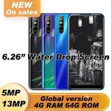Globale Y7 Smartphones Quad Core 13MP 4G RAM 64G ROM Android 5,1 Handys IPS Großen Bildschirm 6.26