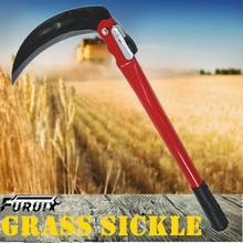 Sickle Hand-Scythe Gardening-Grass Weeding-Garden-Tool Long-Handle FURUIX Steel for Lightweight