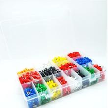 طقم حلقات من 7 ألوان 6 قيمة 2120 قطعة طقم أسلاك تجعيد موصل معزول طرفية طرفية طرفية