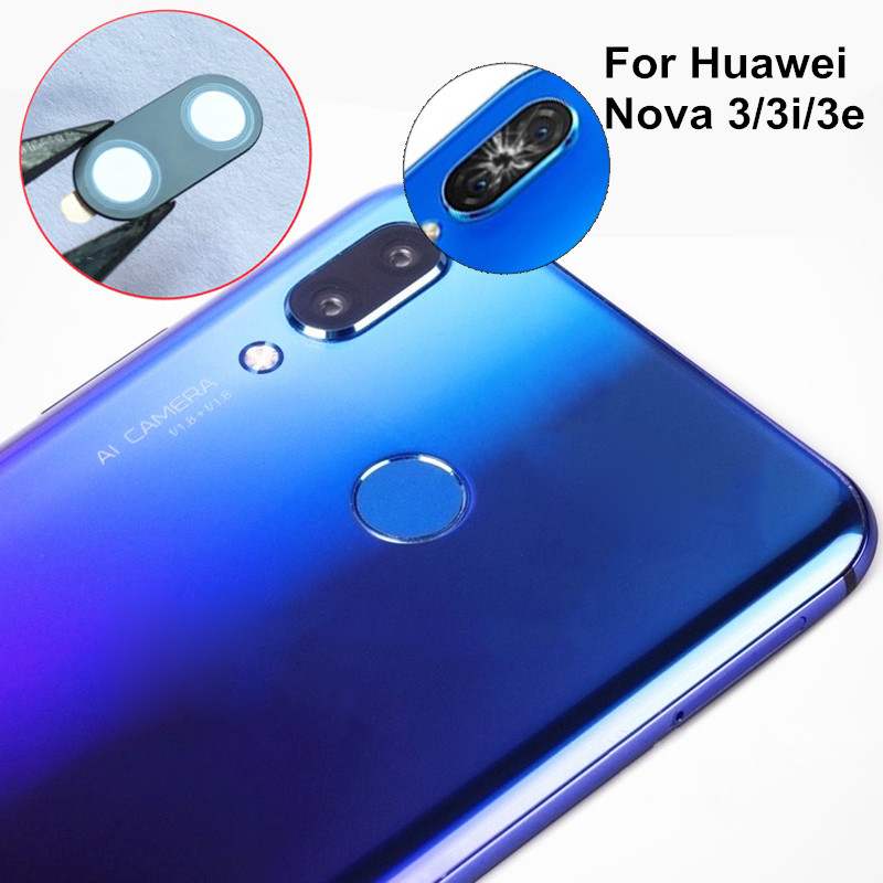 2pcs New Rear Back Camera Glass Lens Cover For Huawei Nova 3 3i 3e With Adhesive Tape Replacement + Tracking Number