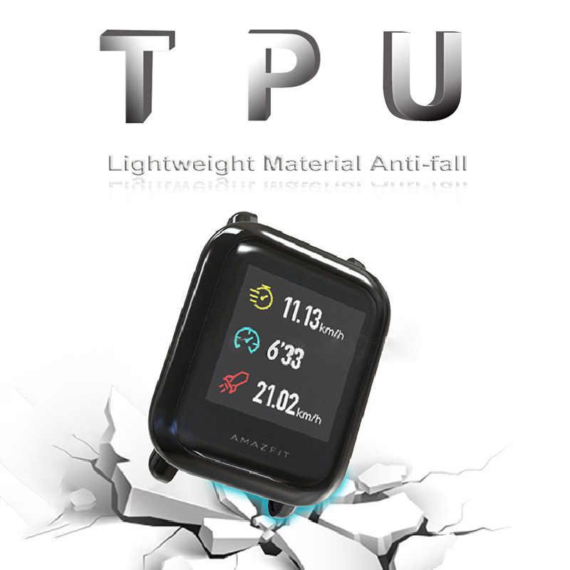 XShum Amazfit ביפ מקרה מגן עבור Huami amazfit ביפ אביזרי Xiaomi פגוש ציפוי TPU פגז מקרה כיסוי מסך הגנה