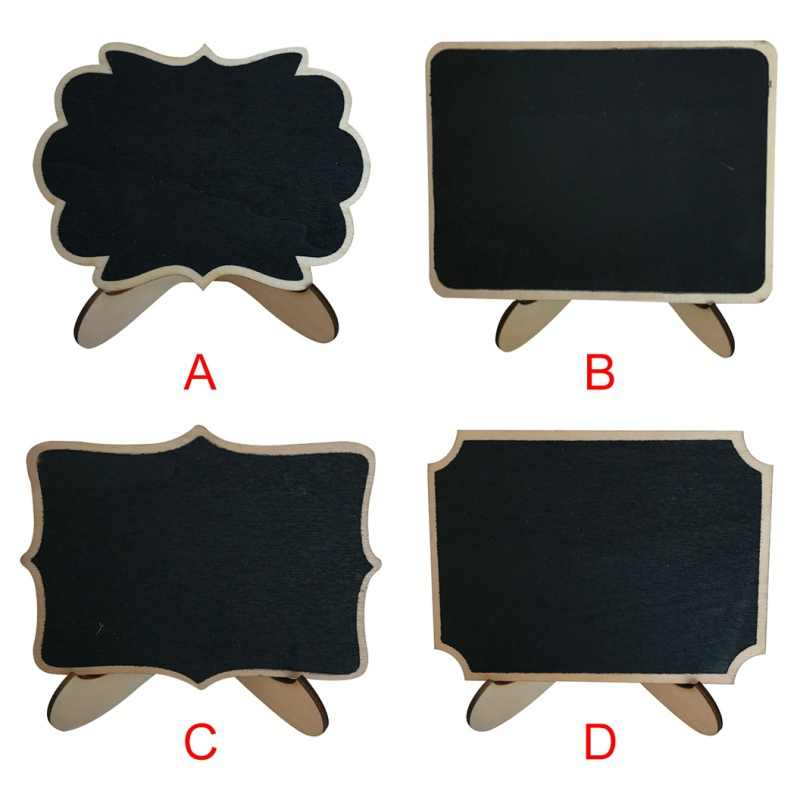 Mini Chalkboards Decorative Signs Blackboard Wooden Message Board Party Banquet Restaurants Decoration Blackboard