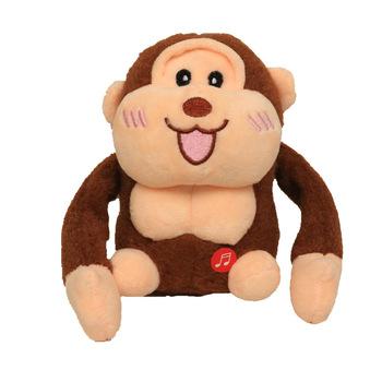 Robot zabawki małpki kontrola dźwięku zwierząt salto zabawki elektroniczne pluszowe zwierzę domowe miękkie śmieszne muzyka Orangutan dla dzieci prezent USB Charge tanie i dobre opinie TOPEKIA CN (pochodzenie) 3 lat ZZ882859 3pcs AA Unisex Małpy Zasilanie bateryjne SOFT Edukacyjne Mini Brzmiące Interaktywne