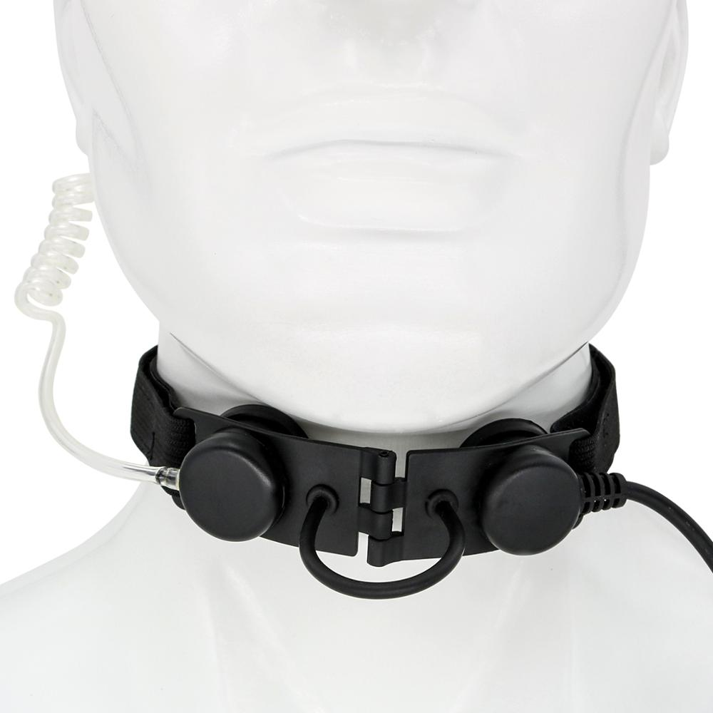 Airsoft throat headset outdoor hunting portable radio microphone neckband tactical  throat microphone vacuum sound CS headset