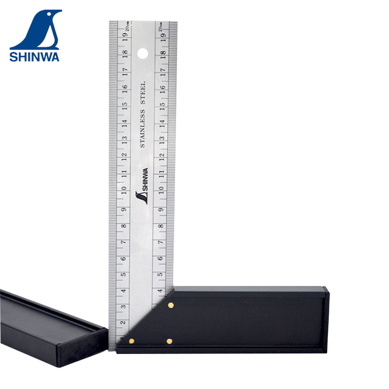 High Quality Shinwa Penguin Miter Try Square Stainless Steel Right Angle Ruler 20 25 30cm Front And Back Same Scale Best Discount 19bd Cicig
