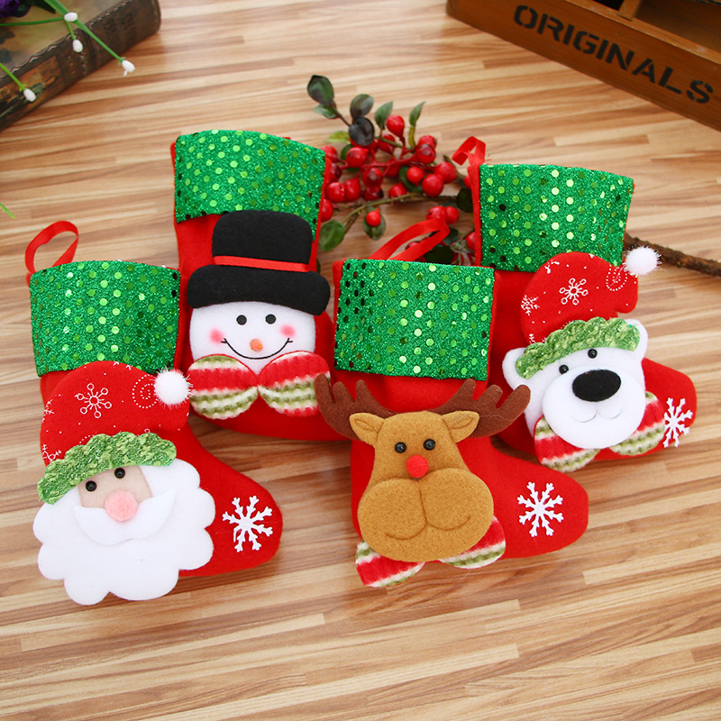 Christmas Stocking Chrismas Decoration Sock For Home Christmas Tree Ornaments  New Year Gift Bags Gift Holders Stockings
