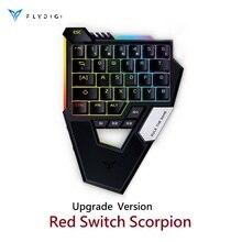 Flydigi Skorpion Neue Version Roten Schalter tastatur pubg cod mobile Bluetooth für Android telefon tisch Gebaut in maus tastatur