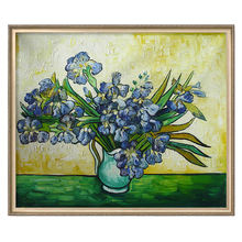 Ручная роспись Ван Гог натюрморт ваза с ирисами цветок картина