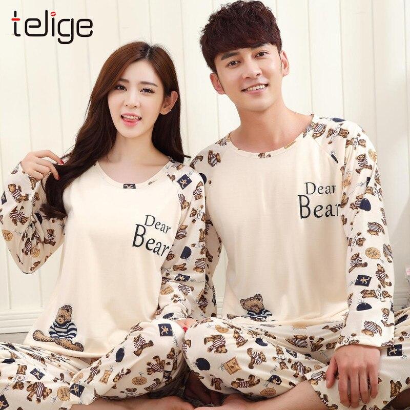 Unisex Spring Men Pajamas Long Sleeve Male Pajama Set Autumn Casual Pajamas Women Sleepwear Suit Homewear Large Size