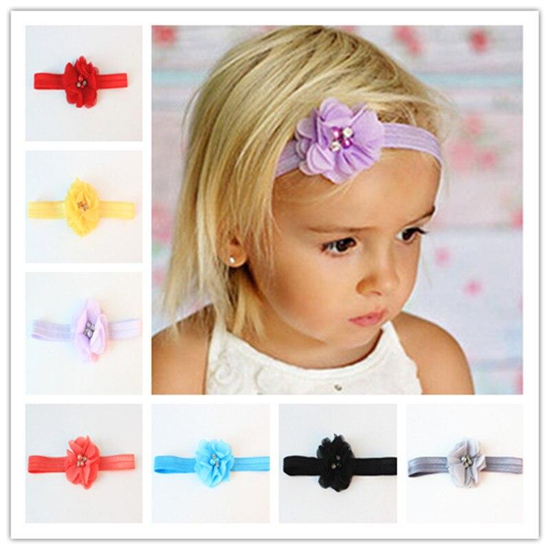 Crianças acessórios para o cabelo mão-costurado baby girl fotografia newborn headband infantil headbands tiara headband faixa de cabelo floral