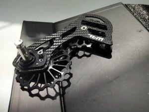 Image 5 - 17T קרמיקה סיבי פחמן אופני נושאות רכיבה על אופניים גלגלת גלגל סט אחורי Derailleurs מדריך גלגל עבור שימנו דורה אייס/ultegra R8000