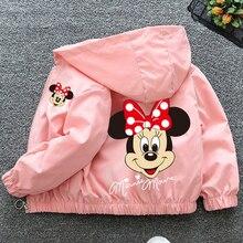 Jesień nowa odzież dziecięca kreskówka Minnie kurtka chłopcy dziewczęta dziecko wycieczka odzież kurtka dzieci rozpinany sweter kurtka