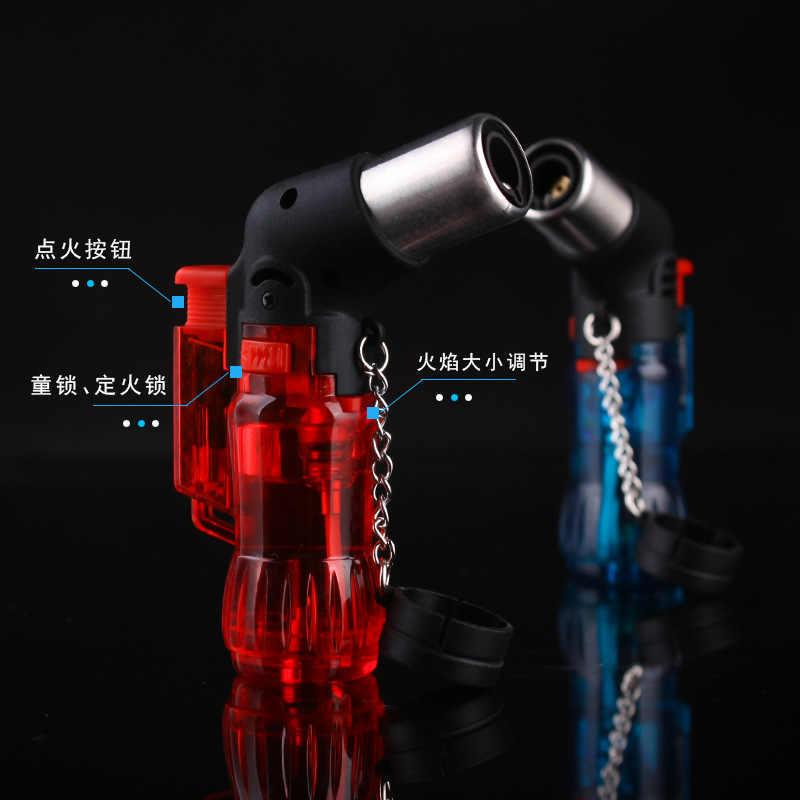 Butane Gas Jet Torch Pistol Lebih Ringan Spray Gun Windproof Rokok Berkemah Lebih Ringan Inflatable Portable Bensin Cerutu Outdoor