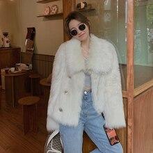 Light luxury fox fur fur coat for women 2020 new young Silver Fox Fur Winter