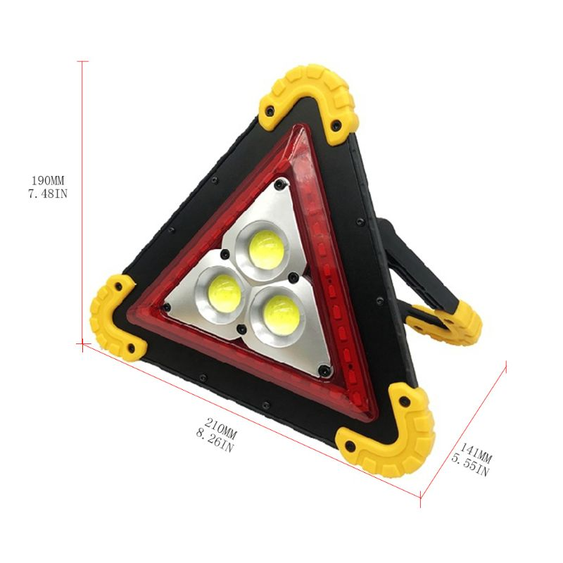 Car Warning Light Triangle Bright Taillight Waterproof Sign Lamp  For Outdoor 831F