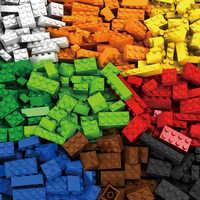 1000 Peças de Blocos De Construção Da Cidade Modelo Figuras Crianças Brinquedos Educativos Tijolos Criativo DIY Em Massa Compatível Todas As Marcas