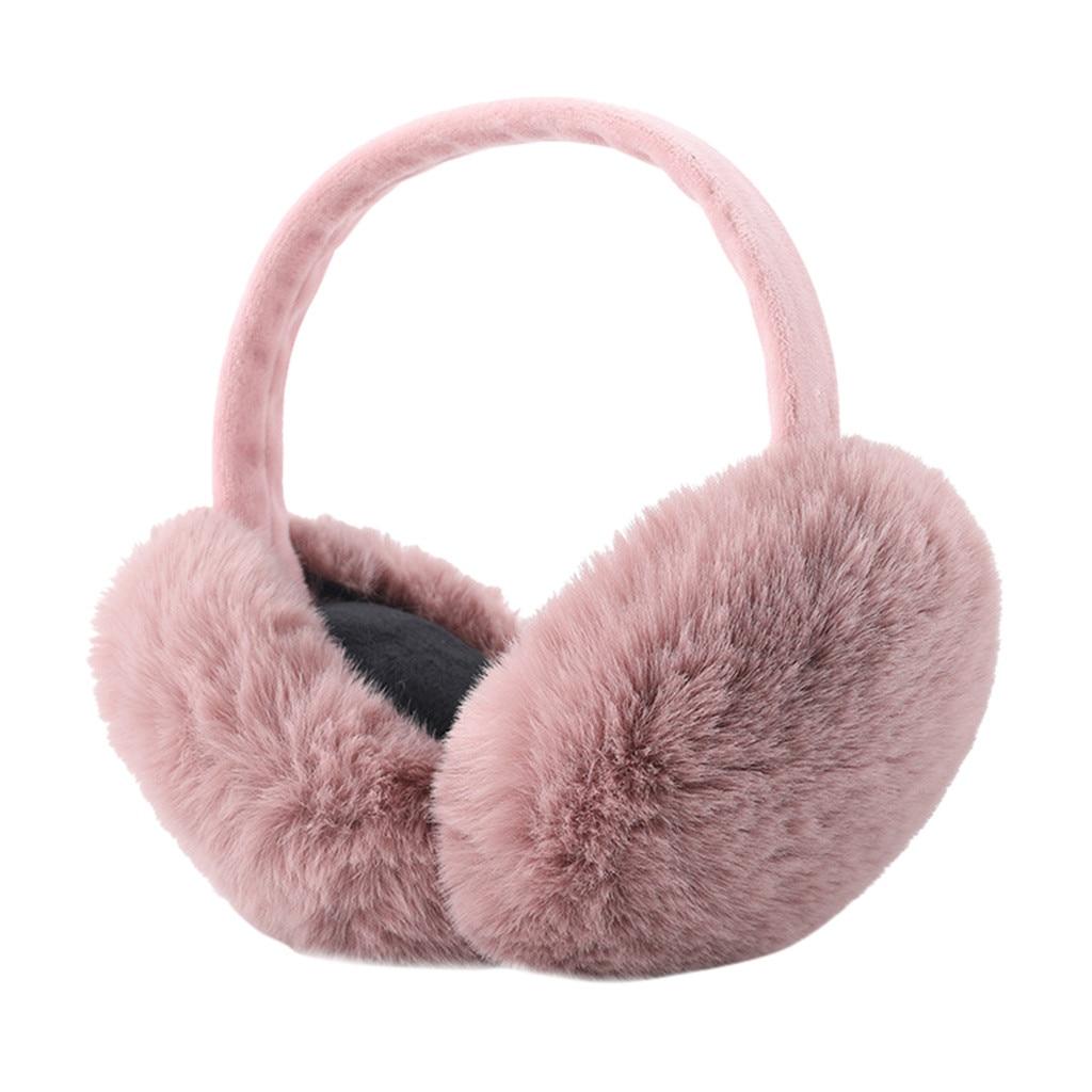 Winter For Women Cute Ear Warmers Fashion Women Girl Soft Plush Fur Earmuffs Muffs Outdoor Foldable Earmuffs Earlap Headband