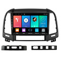 Автомобильный мультимедийный плеер 2.5D Android для Hyundai Santa Fe 2006-2012 с GPS-навигацией, Wi-Fi, 2 Din, FM-радио, стерео