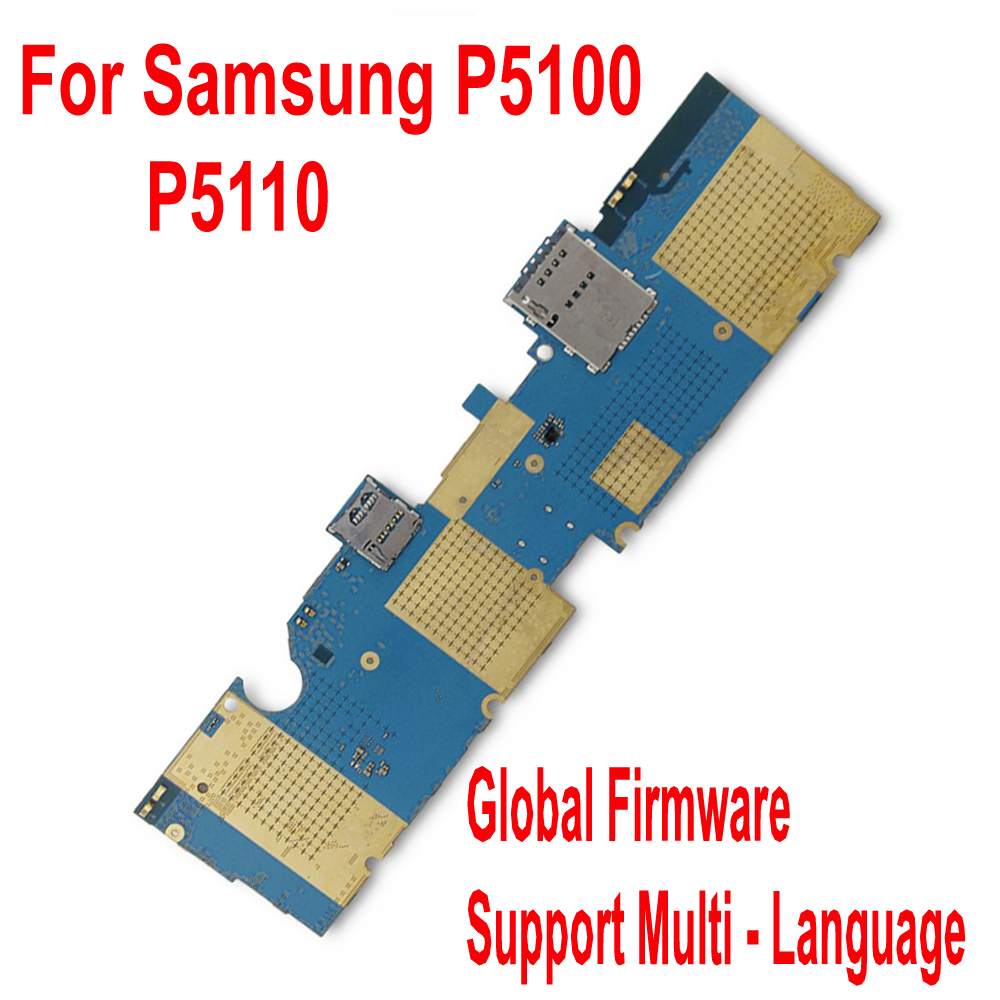 Original Tested Well Mainboard For <font><b>Samsung</b></font> Galaxy Tab 2 10.1 P5110 <font><b>P5100</b></font> WiFi 3G <font><b>Motherboard</b></font> card fee full chipsets Circuits image