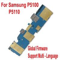 Testado Bem Mainboard Original Para Samsung Galaxy Tab 2 10.1 P5110 P5100 WiFi 3G chipsets Motherboard cartão de taxa completa circuitos