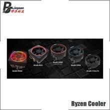 Amd ryzen wraith cooler original, 4 pinos, suporte de lata r3 r5 r7 r9 cpu, pode suporte para am4 placa mãe