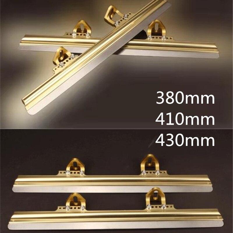 Couteau à glace courte piste dorée 380mm 410mm 430mm 58-60 HRC lame de glace patins à glace en ligne patines 150mm 165mm 195mm monture réglable