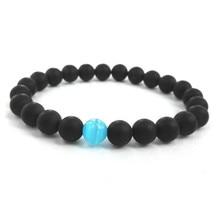 Mens Health Energy Bracelet Powerful Magnetic Hematite Black Beads Sport Jewelry