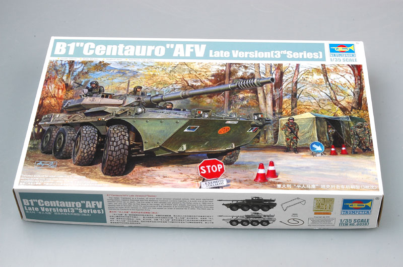 <font><b>Trumpeter</b></font> 1/35 00387 B1 Centauro AFV Late Version 2rd series Armored Vehicle Car Military Plastic Assembly Building Model Kit image