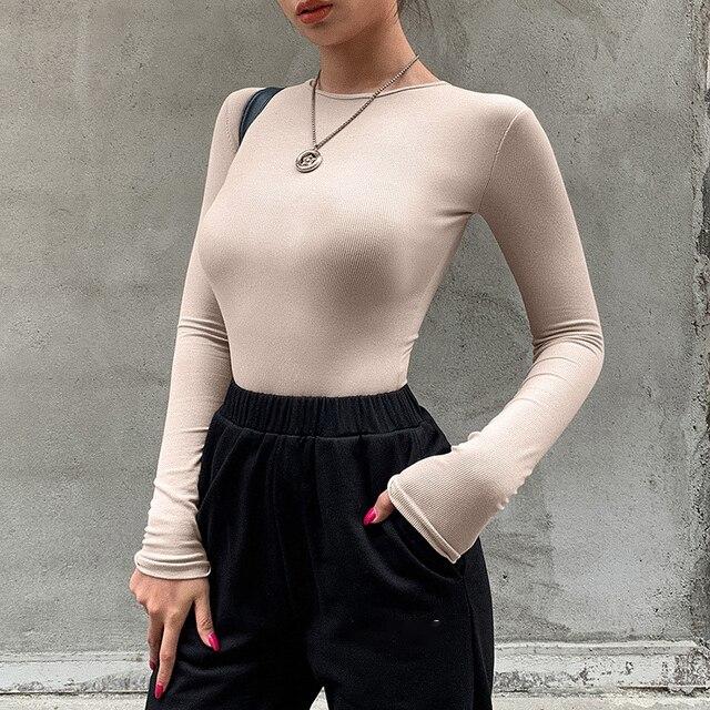 O-Neck Long-Sleeve Bodysuit 2