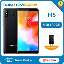 HOMTOM H5 אנדרואיד 8.1 MT6739 Quad Core FDD LTE 4G טביעות אצבע נעילה 3GB 32GB 3300mAh 5.5 אינץ פנים מזהה נייד טלפון