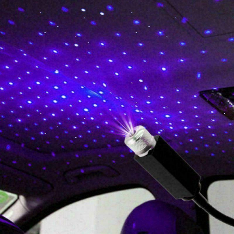 Mini LED Car Roof Star Night Light USB Decorative Lamp Projector Adjustable Atmosphere Home Ceiling Decor Light