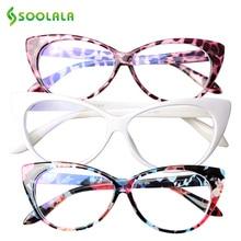 SOOLALA 3pcs Anti Blue Light Cat Eye Presbyopic Reading Glas
