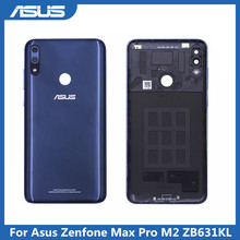 Asus ZB631KL Pin Vỏ Bao Da Cho Asus Zenfone Max Pro M2 ZB631KL Nhà Ở Cửa Sau Bao Da Dành Cho Zenfone ZB631KL Ốp Lưng