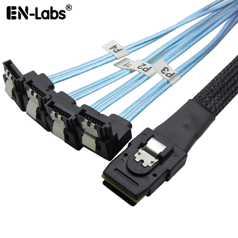 MiniSAS to SATA Adapter ConverterMini SAS SFF 8087 Controller 6gb to 4xSATA Forward Breakout CableSFF-8087 Connector to 4 SATA