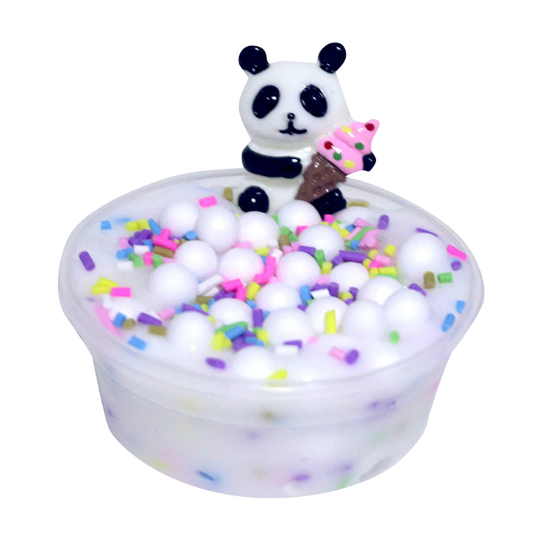 60Ml Panda Beads Slime Clay Sludge Toy Kids Adult Stress Relief Plasticin Toys Slime Cloud Kinetic Sand Slimes From Slimers A40